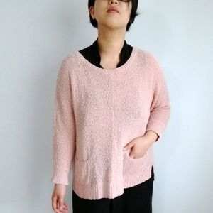 Loft baby pink knit sweater